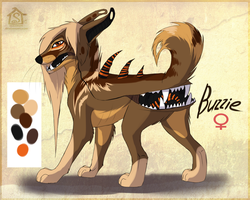 Buzzie the alien canine.ref by Suzamuri
