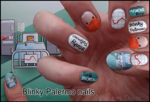 Blinky Palermo nails by Ninails