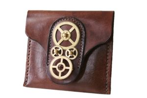 Steampunk Leather Wallet 4 by AmbassadorMann