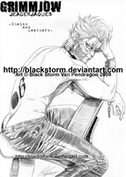 GRIMMJOW: Chains and Leather 2 by blackstorm