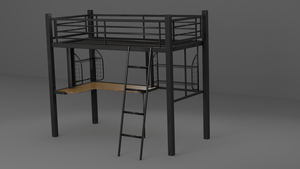 Desk with Bunk Bed 01 by johnnydwicked