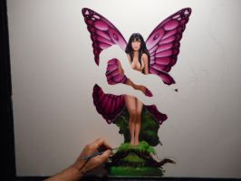 Jungle Fairy...oil on canvas...36x36 inches..wip by ChristopherPollari