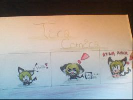 Tira comica, :3 The green neko =p by Darren15