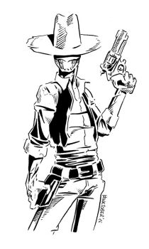 Inktober 2016, Day 12: Cowboy Ghoul by spacehamster