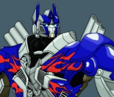 Optimus Prime colored  WIP by isterini