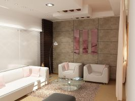 modern living room by islam2008