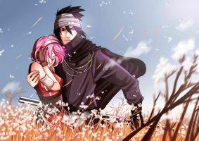Sasusaku _ In the field by Superhevey