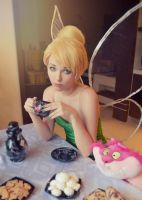 Tinkerbell in Wonderland Tea Party by Helen-Stifler