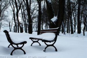 Snowly Bench by Flames8