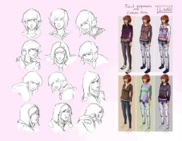 Leah - Facial Expressions and Costume Design by CatCouch