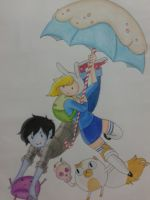 Adventure Time - Marshall Lee and Fionna by flodoyle