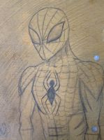 Spiderman notebook doodle by Adriellovesart
