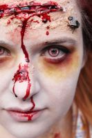 Zombie make-up and lighting test 2 by Kristina86