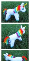 Rainbow Unicorn Amigurumi by Sparrow-dream
