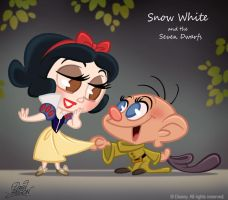 50 Chibis Disney : Snow White by princekido