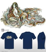 Siren -Mythical Creatures T-shirt Design challange by fanitsafantasy