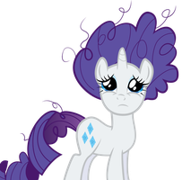 Rarity's messed up hair by SpellboundCanvas