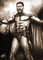 LEONIDAS AND THE 300 by muday1369