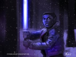 Star Wars Quick Paint Week - Monday -Finn by SteveMillersArt