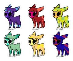 Fuzzy Skull Adopts {Closed} by Shadowed-Adoptables