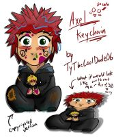 Axel - keychain - marked up by tythecooldude06