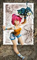 Maliki stand on stamp by Atelier-Enaibi