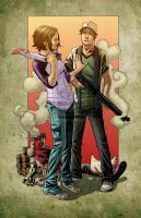 Glenn and Maggie Collaboration by PsychoSlaughterman