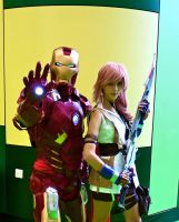 Lightning And IronMan by Ellwell