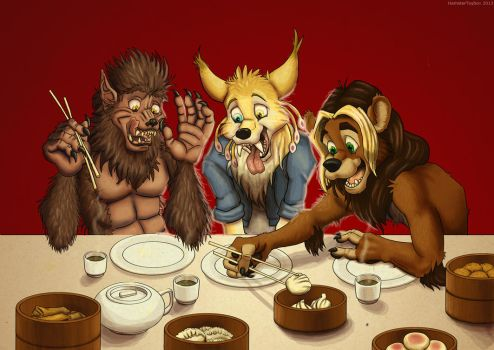 Dim Sum with Friends by bcbreakaway