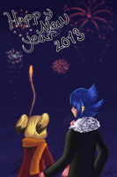 Happy new year 2013 by MsDinoGoat