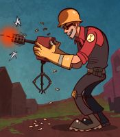 Comission: TF2 Engineer by ragweed