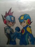 Megaman exe friends coloured by Marlous2604