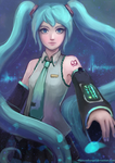 Hatsune Miku by thirteenthangel