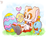One Hour Sonic 05 Easter Chao Eggs by WHATiFGirl