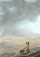 thunder over the desert by TheRoguez