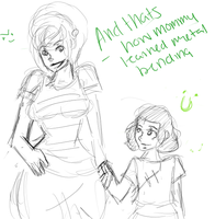 mommy toph and  Lin Beifong by 123chachy