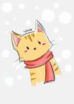 Kitty Snow by selenaloong