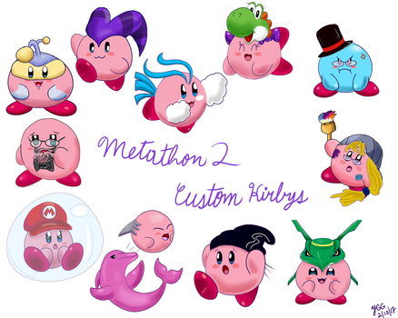 Metathon 2 Custom Kirbys by YoshiGamerGirl