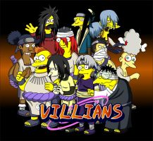 Naruto Simpsons - Villians by lloydvdw