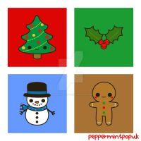 Cute Christmas illustrations by peppermint-pop-uk