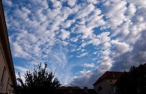 Sky over the Prague by Cahharin