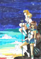 Gift: Air Warrior and Sailor Earth Warrior by Toto-the-cat