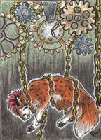 ACEO - Your time is out by HowlingWolfSong