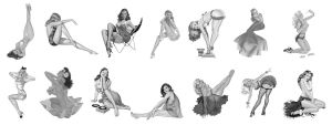 Pinup-Brushes Set 1 by zorro72