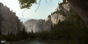A Rocky Landscape by Greerillustration