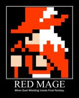 Red Mage Motivational Poster by Adam1949