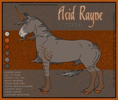 Reference Sheet: Acid Rayne by SaraChristensen