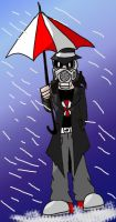 Umbrella Man by BrokenTeapot