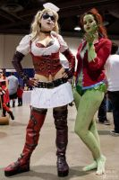 Arkham Asylum Harley Quinn and Poison Ivy by miss-kitty-j