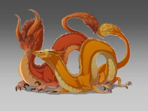 Grapefruit and Orange Dragon by magmi